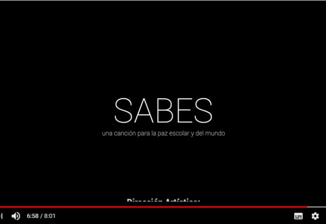SABES: una canción para la paz escolar y del mundo